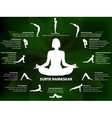 Yoga infographics Surya Namaskar sequence vector image vector image