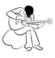 Guitarist playing the guitar vector image