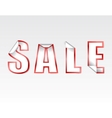 sign silver SALE sticker vector image