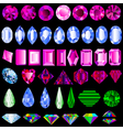 a set of precious stones of different cut vector image vector image