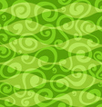 abstract green floral curves seamless pattern vector image