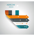 Abstract paper cut arrow background vector image vector image