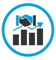 Acquisition Graph Icon vector image