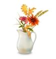 Autumn Flowers in Jug vector image vector image