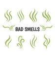 bad smells isolated smoke icons vector image