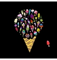 Big icecream sketch for your design vector image vector image