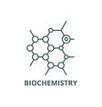 biochemistry line icon biochemistry vector image