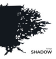 black silhouette bush shadow for overlay vector image