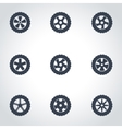 black wheel icon set vector image vector image