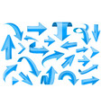 blue ribbons shiny 3d signs vector image vector image