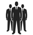 business team black icon leadership concept vector image