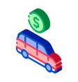 car dollar coin isometric icon vector image vector image