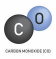 carbon monoxide molecular formula vector image vector image