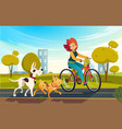 cartoon of young redhead woman vector image vector image