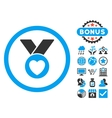 Charity Medal Flat Icon with Bonus vector image vector image