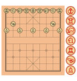 chinese chess xiangqi chinese chess xiangqi from vector image vector image