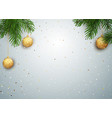 christmas background with tree branches and vector image