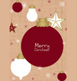 christmas decoration on brown background vector image
