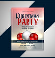 christmas party invitation flyer template design vector image vector image