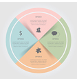 Color circular Chart Infographic vector image
