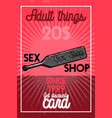 color vintage sex shop banner vector image vector image