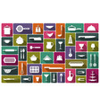 cooking icons in flat style vector image