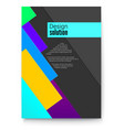 cover design abstract solution with multi colored vector image vector image