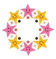 cute cartoon stars frame vector image vector image