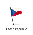 czech republic flag on pole infographic element vector image vector image