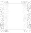 dahlia outline banner card border vector image vector image