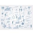doodle business management infographics elements vector image vector image