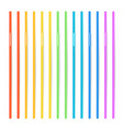 drinking straws set of 3d striped icon vector image vector image
