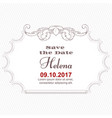 elegant white card for inviting to an important vector image vector image