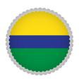 empty brazilian campaign button vector image vector image