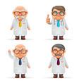 experienced doctors team 3d realistic cartoon vector image