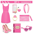 Female Accessories Set 4 vector image