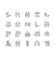 follow line icons signs set outline vector image