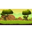 Forest and Stones game background vector image vector image