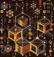 Future technology drawing industrial wallpaper vector image vector image