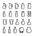 glassware icon vector image vector image