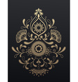 Golden floral paisley ornament vector image