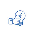 good idea hand with thumb up line icon concept vector image vector image