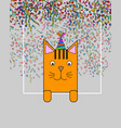 greeting card with funny cartoon animals place vector image vector image