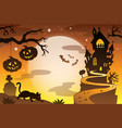 halloween topic background 4 vector image vector image