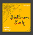 happy halloween party invitation blood decoration vector image