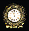 happy new year background with gold glitter vector image vector image