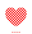 heart with square it is icon vector image vector image