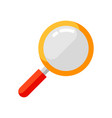 icon magnifying glass in flat style vector image