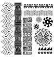 image ancient american pattern on white vector image
