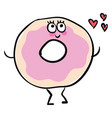 image blessed love donut or color vector image